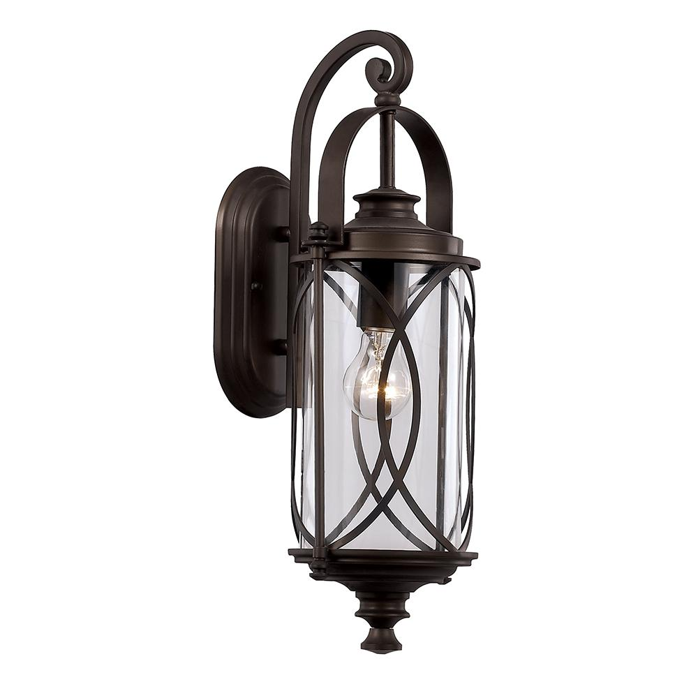 1-Light Oil Rubbed Bronze Outdoor Wall Lantern