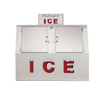 60 cu. ft. Automatic Defrost Commercial Upright Slant Ice Merchandiser Freezer in White