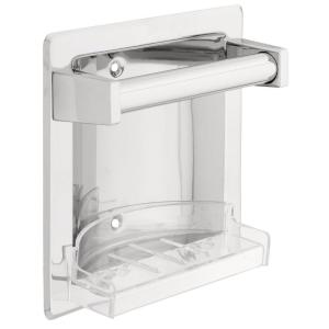 Franklin Brass Futura Recessed Soap Dish with Bar in Chrome by Franklin Brass