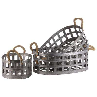 Gray Decorative Basket (Set of 3)