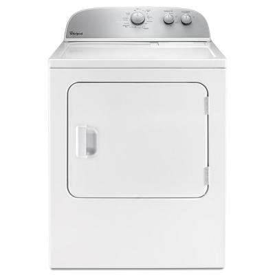 5.9 cu. ft. 240-Volt White Electric Vented Dryer with AccuDry