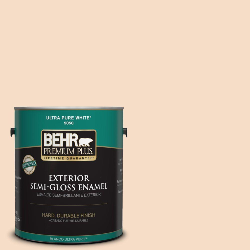 1-gal. #HDC-SP14-3 Faint Peach Semi-Gloss Enamel Exterior Paint