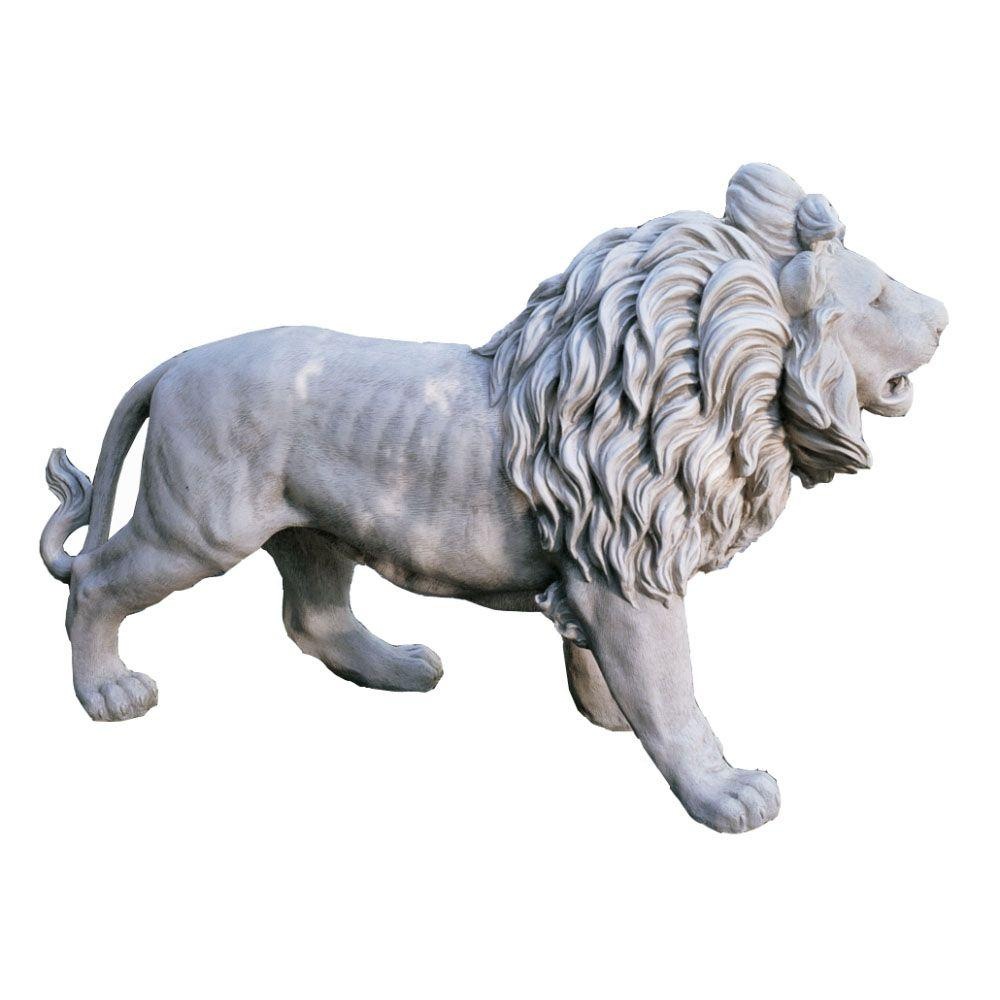 Design Toscano 25 in. Regal Lion of Grisham Manor Statue-DISCONTINUED
