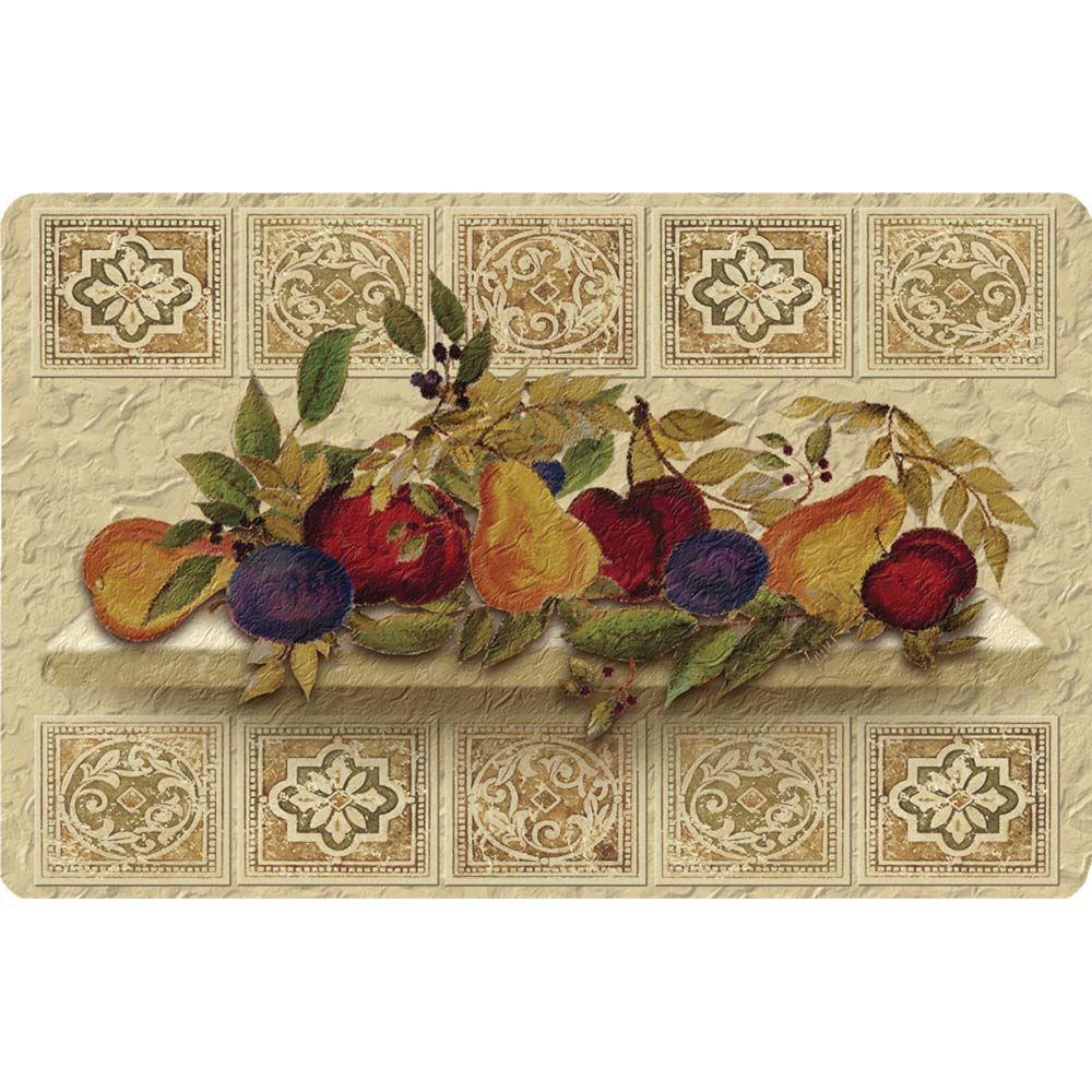 Apache Mills Fruit Still Life Cushion Comfort 22 in. x 34 in. Foam Mat