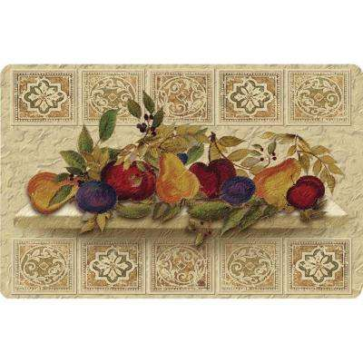 Fruit Still Life Cushion Comfort 22 in. x 34 in. Foam Mat