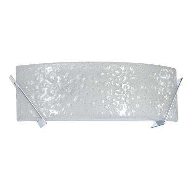 Michaela 2-Light Chrome Vanity Light with Curved Bubble Glass Shade