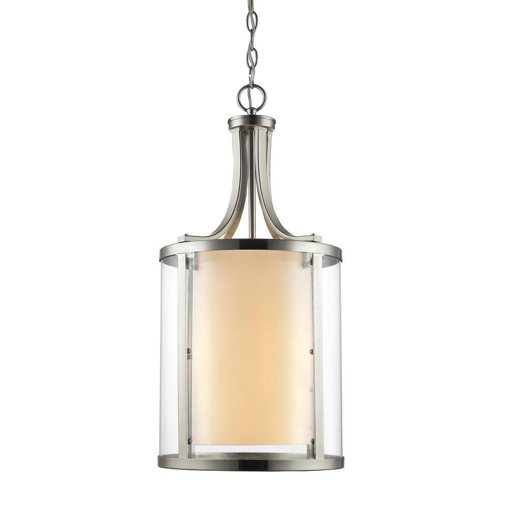 Christen 4-Light Brushed Nickel Pendant