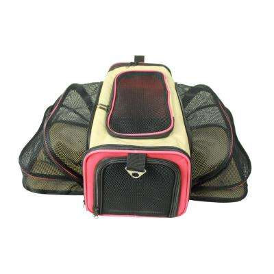 Khaki Roomeo Folding Collapsible Airline Approved Pet Dog Carrier Crate