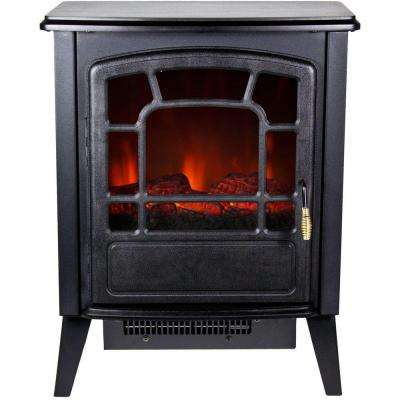 Bern 370 sq. ft. Retro-Style Electric Stove with Logwood Flame Effect