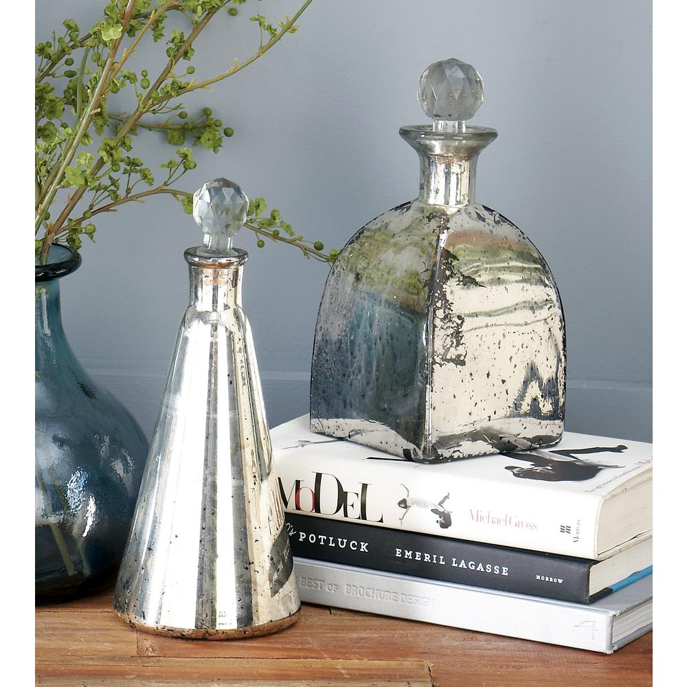 Spattered Metallic Gold Decorative Bottles (Set of 3)