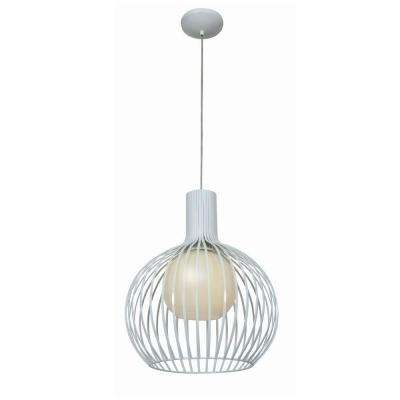 Chuki 1-Light White Pendant with Opal Glass Shade