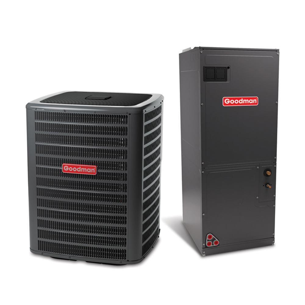 Goodman 2 Ton 16 Seer 81 Afue 60 000 Btu Heating R 410a