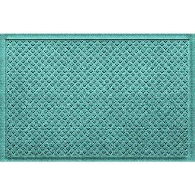 Gems Aquamarine 24 in x 36 in Polypropylene Door Mat
