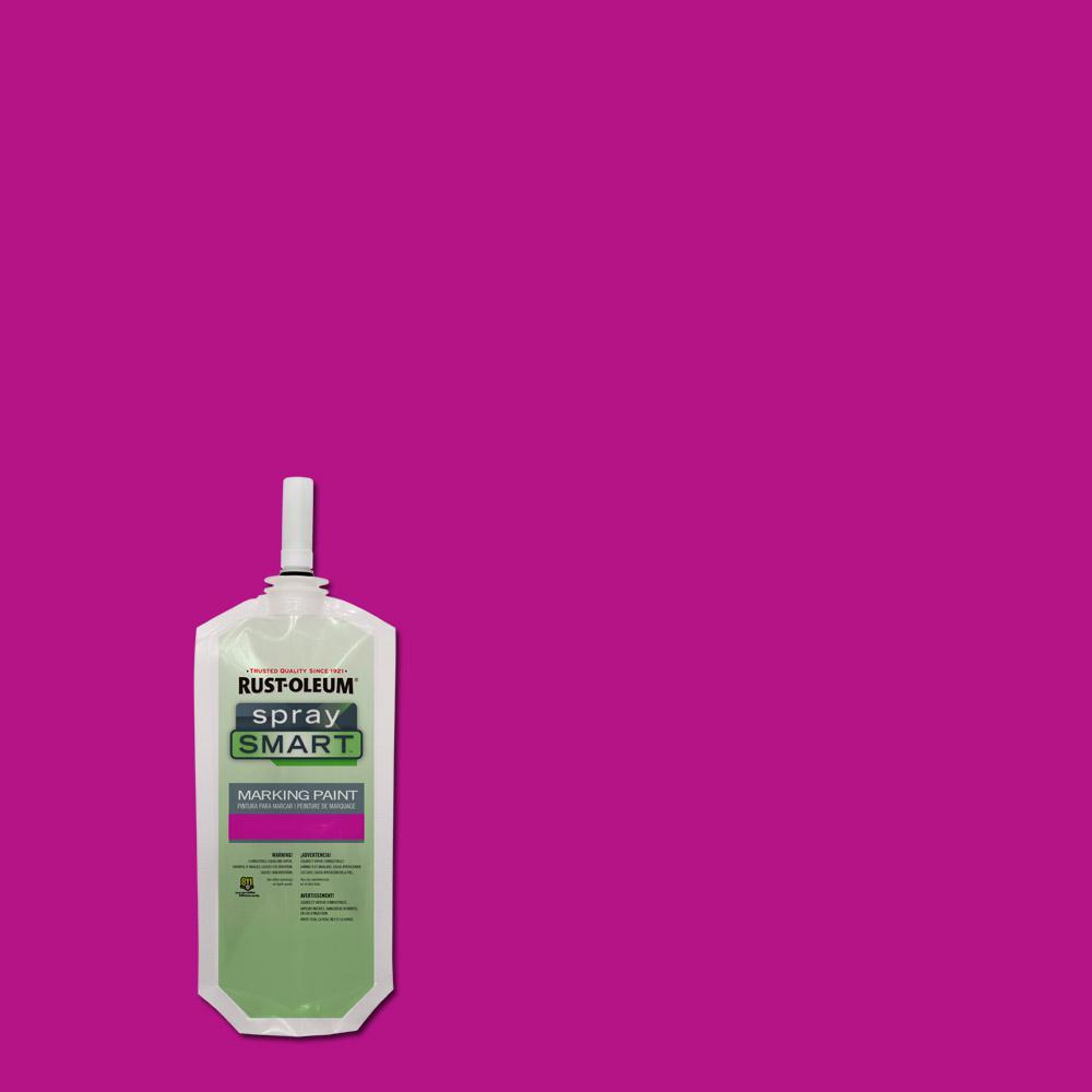 10.5 oz. Fluorescent Pink SpraySmart Marking Paint Pouch (12-Pack)
