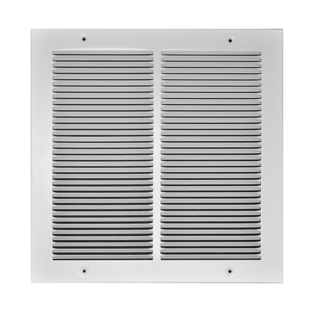 TruAire 6 in. x 6 in. Steel 1/3 in. Fin Spaced Return Air Grille