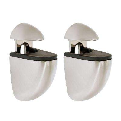 Jam 3/16 in. - 3/4 in. Adjustable Opening Shelf Support in Stainless Steel