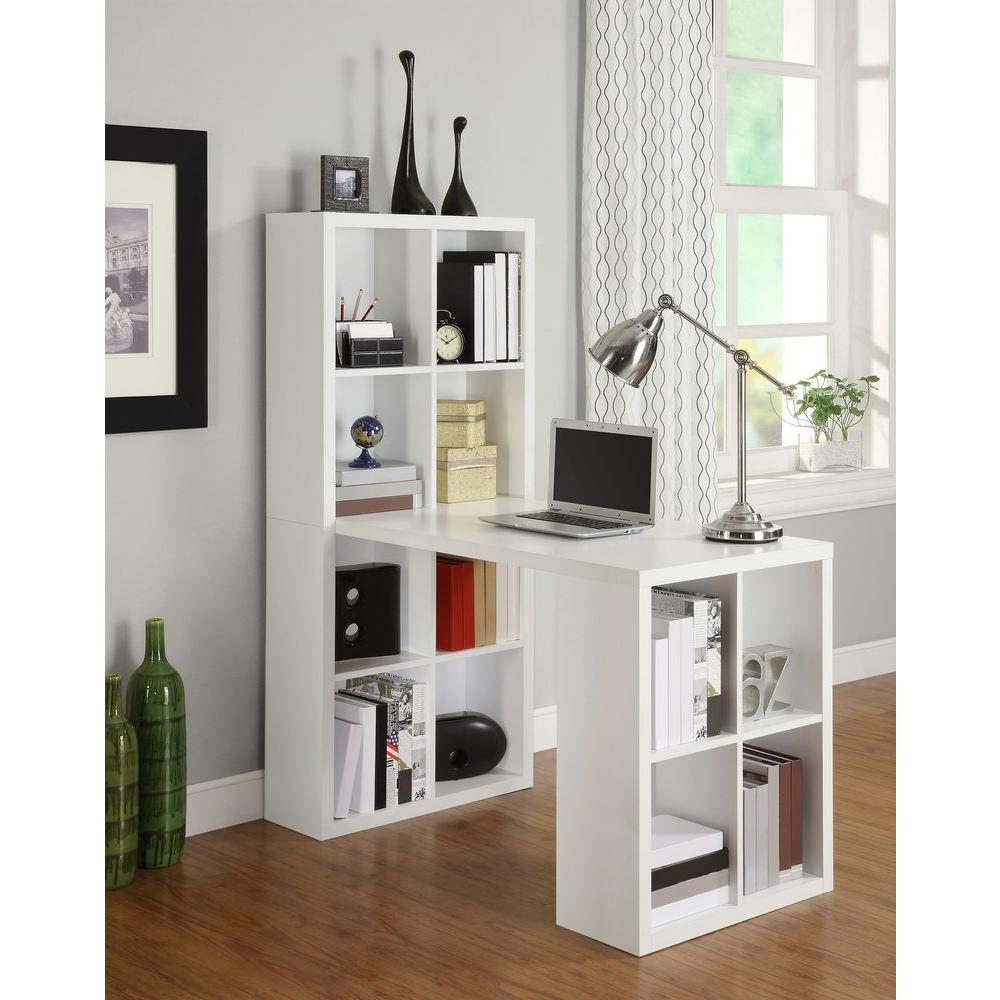 Ameriwood London 2 In 1 Piece White Office Suite 9358296