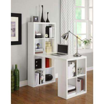 London 2-in-1 Piece White Office Suite