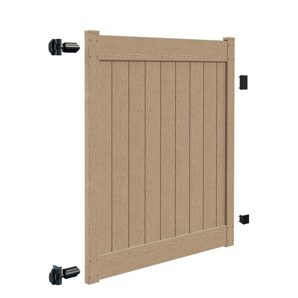 Roosevelt 5 ft. H x 6 ft. Birchwood Vinyl Privacy Fence Gate