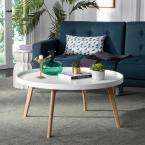 Rue Round White Coffee Table