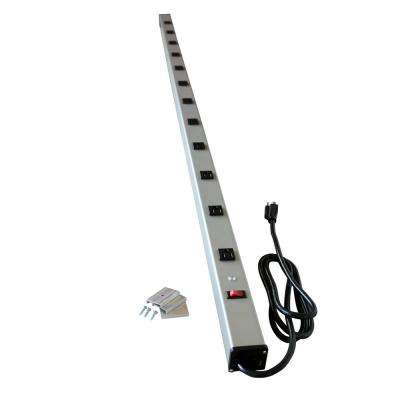 Wiremold 12-Outlet 15 Amp Industrial Power Strip with Lighted On/Off Switch, 6 ft. Cord