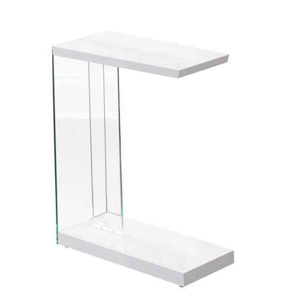 Undefined Elaina White Chair Side End Table
