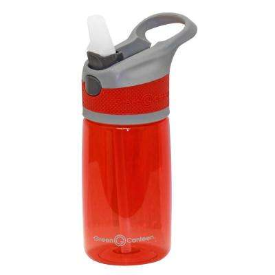 12 oz. Gray and Red Plastic Tritan Hydration Bottle (6-Pack)