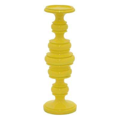 13.5 in. Candleholder Yellow Yellow