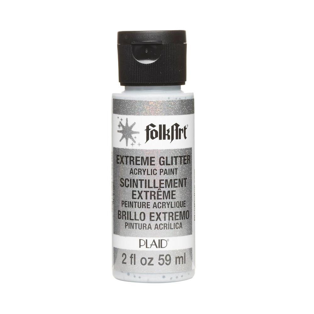 FolkArt 2 oz. Silver Extreme Glitter Craft Paint