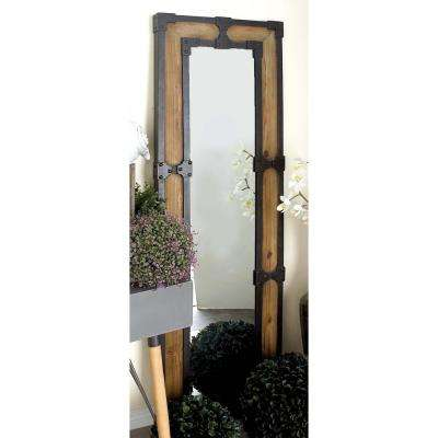 67 in. x 21 in. Bracketed and Grommeted Framed Wall Mirror
