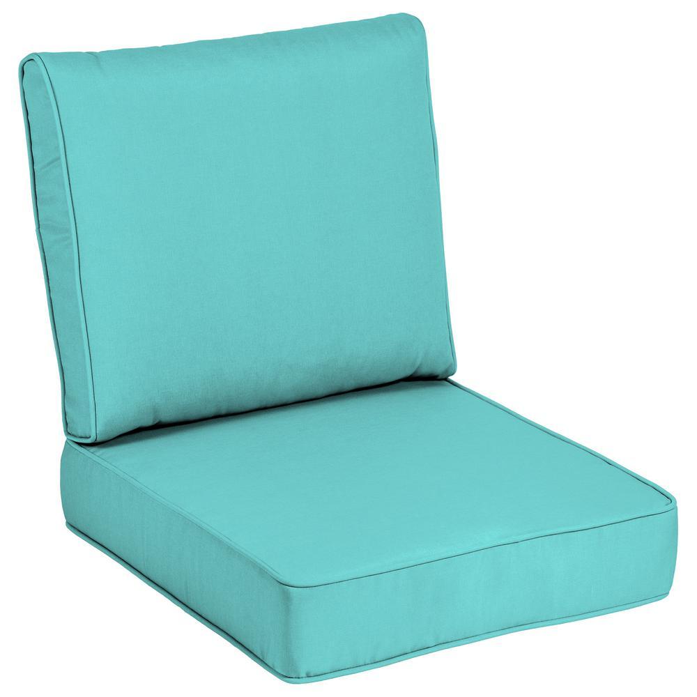 Sunbrella Canvas Aruba Outdoor Lounge Chair Cushion