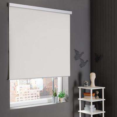 Cut-to-Size NATURAL Cordless Blackout Stain Resistant Roller Shades 29 in. W x 78 in. L
