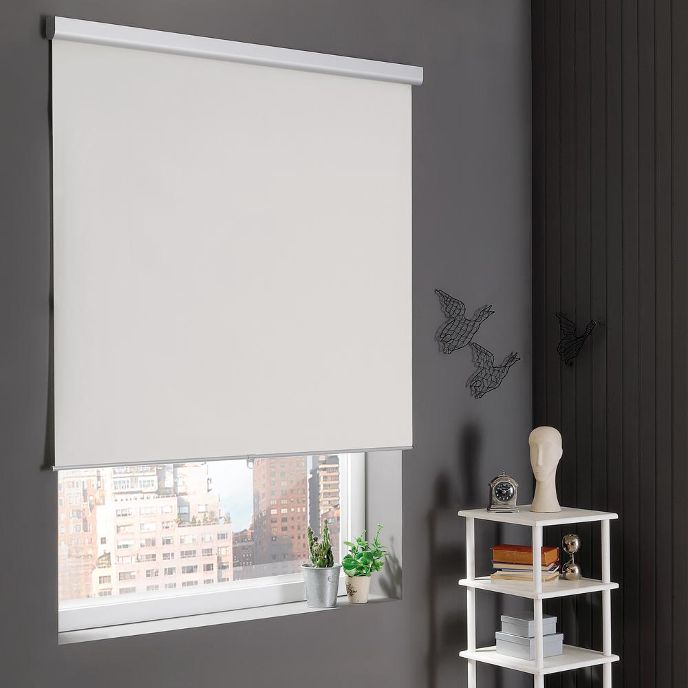 Home Decorators Collection Natural Cordless Stain Resistant Blackout Roller Shades 72 in. W x 78 in. L