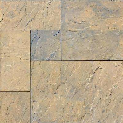 Patio-on-a-Pallet 120 in. x 120 in. Tan Variegated Dutch York-stone Concrete Paver (Pallet of 44-Pieces)