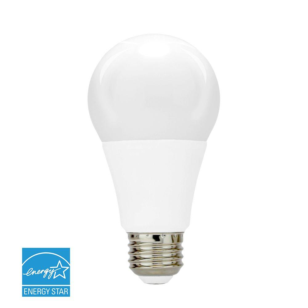 40W Equivalent Soft White (3,000K) A19 Dimmable SMD LED Light Bulb