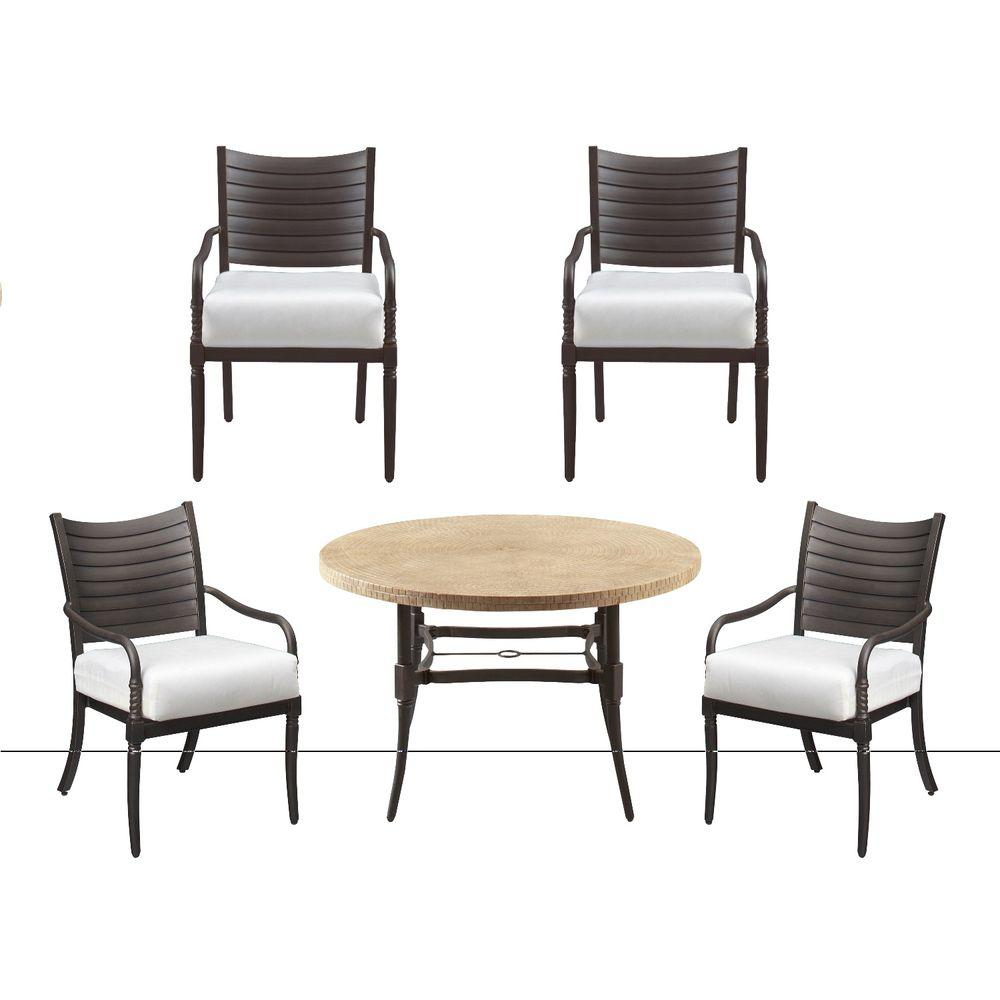 Hampton Bay Madison 5-Piece Patio Dining Set with Cushion Insert (Slipcovers Sold Separately)