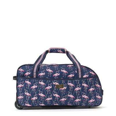 On Vacay 21.5 in. Pink Rolling Duffel Bag