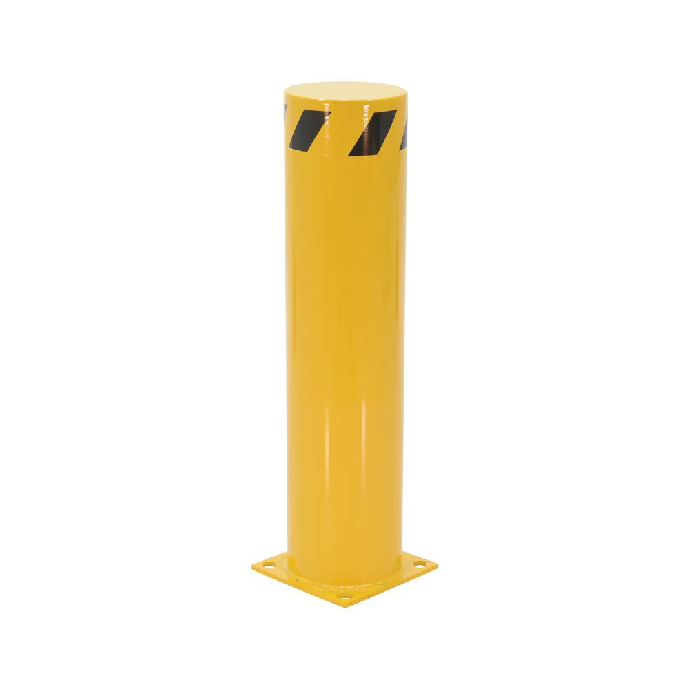 36 in. x 8.5 in. Yellow Steel Pipe Safety Bollard