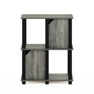 Deals on Furinno Brahms 29.85-in French Oak Grey 3 Shelf Bookcase