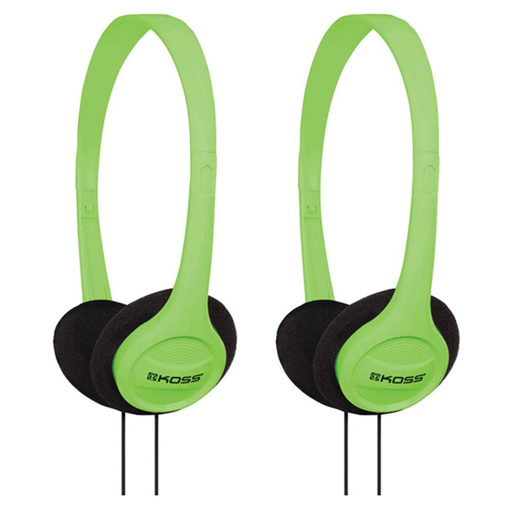 KPH7 On-Ear Headphones in Green (2-Pack)