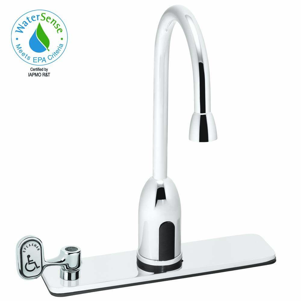Speakman Sensorflo AC-Powered Touchless Lavatory Faucet in Polished Chrome-DISCONTINUED