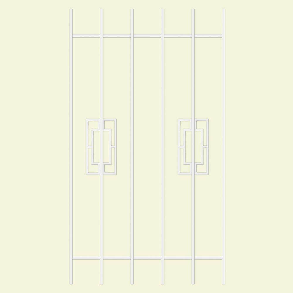 Unique Home Designs Modern Trifecta 30 in. x 54 in. White 6-Bar Window Guard-DISCONTINUED