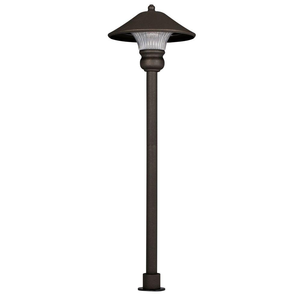 Hampton bay low voltage bronze outdoor integrated led path for Low power outdoor lights