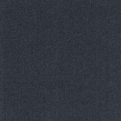 First Impressions Ocean Blue Ribbed Texture 24 in. x 24 in. Carpet Tile (15 Tiles/Case)