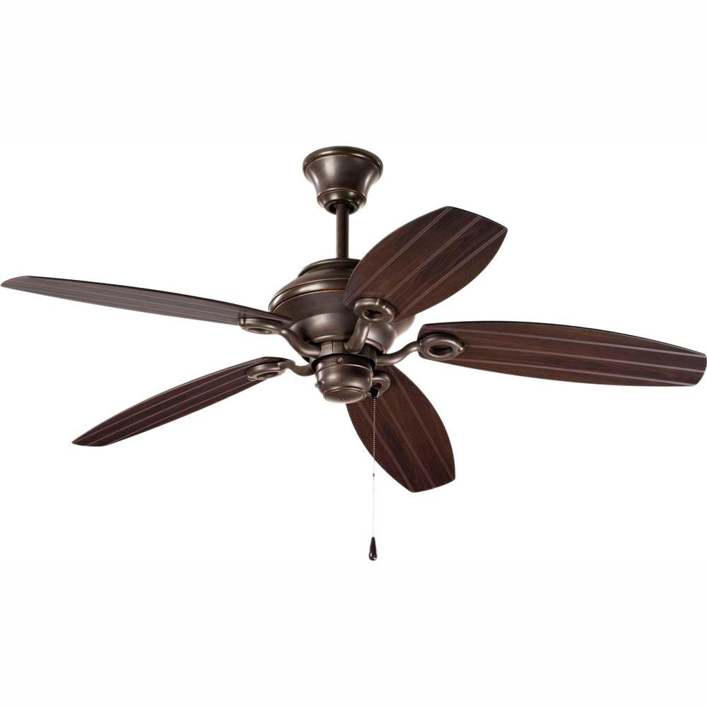 Progress Lighting AirPro 54 in. Indoor or Outdoor Antique Bronze Rustic Ceiling Fan