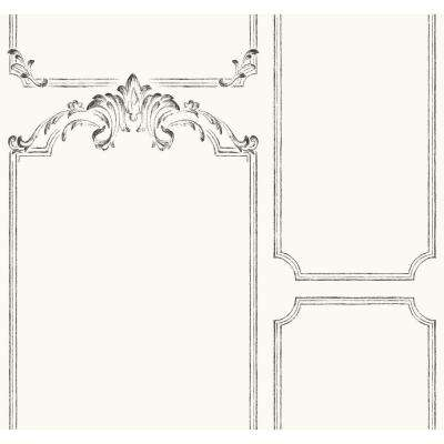 60.75 sq. ft. Magnolia Home French Panel Removable Wallpaper