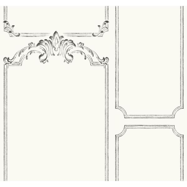 Magnolia Home by Joanna Gaines 60.75 sq. ft. Magnolia Home French Panel Removable Wallpaper
