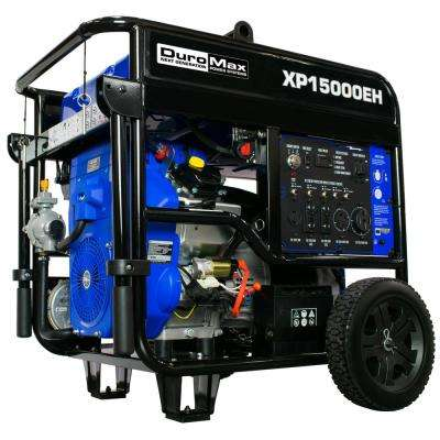 12500-Watt 713cc Portable Gasoline / Propane Powered Dual Fuel Generator with Twin Engine