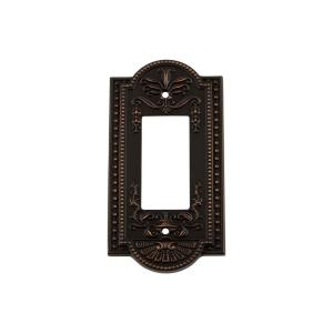 Nostalgic Warehouse Meadows Switch Plate with Single Rocker in Timeless Bronze by Nostalgic Warehouse