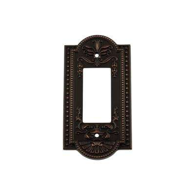 Meadows Switch Plate with Single Rocker in Timeless Bronze